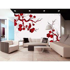 Cereza floreciente inspiró a nuestros diseñadores para crear este fotomural oriental #fotomurales #fotomural #oriente #flordecereza #cerezaflor #artgeist #homedecoor #decoraciones #wallpaper