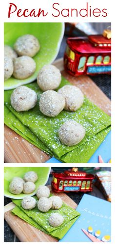 Pecan Sandies - classic holiday cookies recipe with chopped pecan. Buttery and crumbly cookies, so yummy   rasamalaysia.com