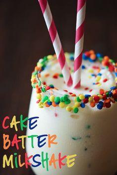 Cake Batter Milkshake | www.thenovicechefblog.com