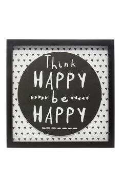 Think Happy Print Frame