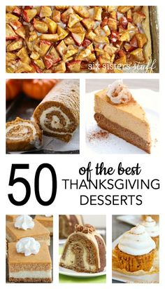 50 of the BEST Thanksgiving dessert recipes! You'll definitely want to make a few of these. 😍