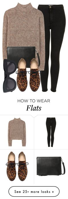 """""""Untitled #4976"""" by laurenmboot on Polyvore featuring Topshop, By Malene Birger, MANGO and CÉLINE"""
