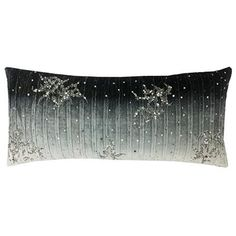 Soft and smooth pleated ombre velvet with all over hand bead work - Corsica Grey Velvet Decorative Pillow - Care Instructions: Hand Wash - Country of Origin: India Design - Dreams Beds, Fine Linens, Cloud 9, Corsica, Luxury Home Decor, Duvet Sets, Modern Contemporary, Decorative Pillows, Velvet
