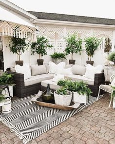 outdoor rooms So it's been about a week since I announced the reveal of our back patio makeover over on the Home Depot website. Diy Patio, Backyard Patio, Backyard Landscaping, Backyard Ideas, Patio Oasis Ideas, Landscaping Ideas, Patio Decorating Ideas On A Budget, Modern Backyard, Porch Ideas