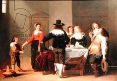 A Guardroom Interior with Soldiers Eating and Drinking in Female Company, 1639 (oil on panel)