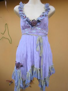 vintage inspired pixie hem lilac chiffon top with lace by wildskin, $50.00