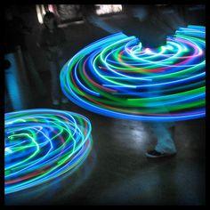 LED Hula Hoops! How fun for a Bar/Bat Mitzvah!