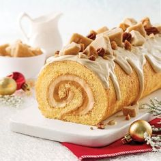 Obtain Chinese Food Dessert Recipe Xmas Food, Christmas Desserts, Christmas Baking, Christmas Cakes, Christmas 2019, Cake Roll Recipes, Dessert Recipes, Glaze For Cake, Log Cake