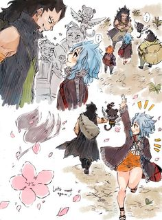 Discovered by Asya. Find images and videos about love, fairy tail and blue hair on We Heart It - the app to get lost in what you love. Fairy Tail Levy, Fairy Tail Ships, Fairy Tail Art, Fairy Tail Guild, Fairy Tales, Anime Fairy, Loki, Gajeel Et Levy, Couples Fairy Tail