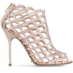 Sergio Rossi Mermaid Sandals ($1,670) ❤ liked on Polyvore