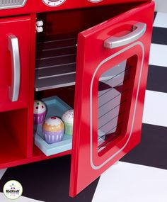 Kidkraft Red Vintage Kitchen In Toys, Hobbies, Preschool Toys U0026 Pretend Play,  Kitchen