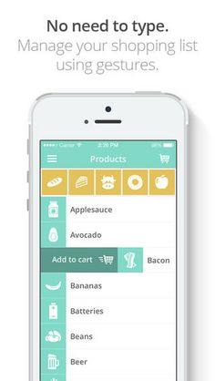 ShopIt grocery list app is so prettyful! Very easy & fun to use!