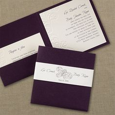 Raisin Flourish Invitation - Wedding Invitations - Wedding Invites - Wedding Invitation Ideas - View a Proof Online - #weddings #wedding #invitations