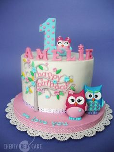 Owl cake - Cake by Cherry Red Cake
