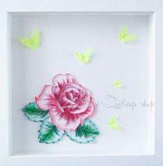 Original Art Quilling: Roses fantaisie papier par BestQuillings