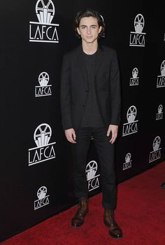 Timothee Chalamet attends the 43rd Annual Los Angeles Film Critics Association Awards on January 13, 2018 in Hollywood, California