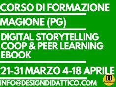 Si organizza corso di formazione gratuito su Digital Storytelling, Coop e Peer Learning, Ebook didattici presso Istituto Omnicomprensivo di Magione…