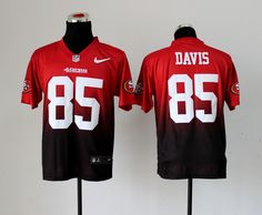 48e1c8a11 NFL Nike San Francisco 49ers 85  Vernon Davis Drift Fashion II Elite Jerseys