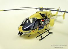 Eurocopter EC145 Medstar, REVELL 1/32 scale. By Mohammad Adl. #scale_model #helicopter #chopper https://www.largescaleplanes.com/articles/article.php?aid=2041
