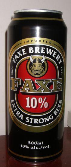 Faxe Extra Strong Beer (Denmark) 10.0%