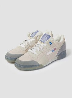 5f0409ca19b6 Reebok Workout Lo Plus Off White   Grey in White for Men
