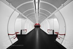 White tube with red dot by HaselHoernchen