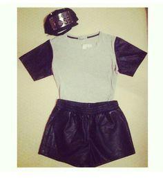 #sportluxe #leather #minimal #black