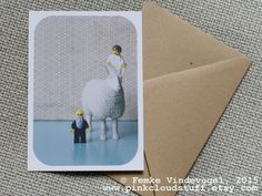 Journey, Card 10,5 x 15 cm, recycled envelope included. www.pinkcloudstuff.etsy.com