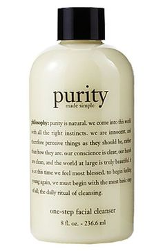 philosophy 'purity made simple' one-step facial cleanser | Love this stuff