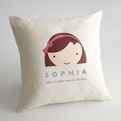 Personalized Kids Pillow Covers #Cute #Kids #Gifts