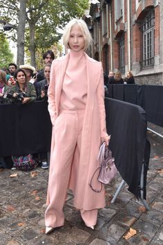 Soo Joo Park is seen arriving at Valentino show as part of the Paris Fashion Week Womenswear Spring/Summer 2018 on October 1 2017 in Paris France