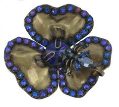 Brosche Clubbing Bugs blau