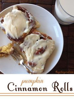 Pumpkin Cinnamon Rolls with Cream Cheese Frosting - these are worth the effort - so gooey and delicious!