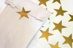 36 Star vinyl stickers  gold stars stickers  by CutOutArts on Etsy