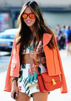 Spring '14 New York Fashion Week Via Tommy Ton. Prints in street style