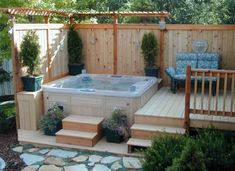 Hottub Deck for a Small Space