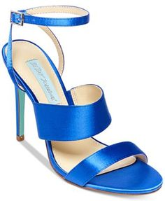 Blue By Betsey Johnson Jenna Strappy Evening Sandals - $99