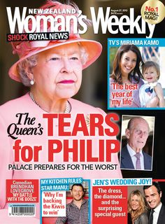 August 27th, 2012 - In this week's issue, Her Majesty prepares for the worst as her beloved husband's health takes another turn. Also in this issue, a year after the birth of her gorgeous daughter, we catch up with Sunday presenter and doting mum Miriama Kamo; Kiwi comedian Brendhan Lovegrove opens up about how he's overcoming his drinking demons; and as things heat up, My Kitchen Rules judge Manu Feildel talks up the new Aussie-Kiwi rivalry on the hot reality cooking show.