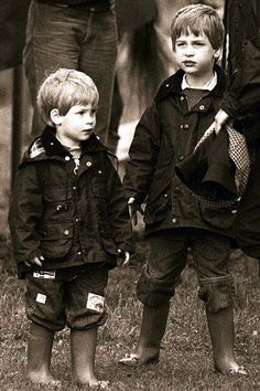 A very old pic of William and Harry when they were just little royals at a polo match in Cirencester, June 1987.