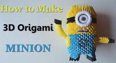 Origami Minion - 3D Model - DIY Tutorials - Giulia's Art