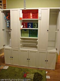 Toddler wardrobe. But change to cupboards on top and hanging rails below.