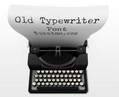 アンティークな書類作りに!タイプライター風フリーフォント(8書体) old typewriter fonts