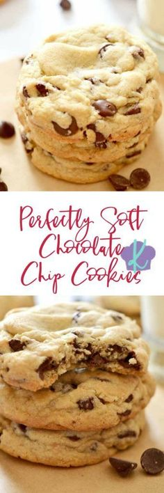 One you make these Perfectly Soft Chocolate Chip Cookies, you'll never use another recipe again.  Just like the name suggests: these cookies are perfectly soft, no chilling required, simply the BEST chocolate chip cookie around! | easy chocolate chip cook