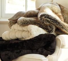 Ribbed Faux-Fur Throw | Pottery Barn