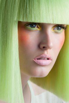 Pastel Hair Inspiration. Loving This Stunning Pastel Green Shade.