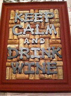 Wine cork art!