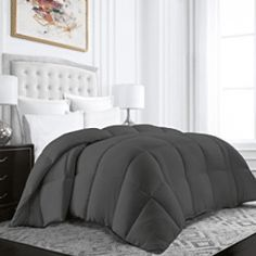 Beckham Hotel Collection Egyptian Quality Cotton Goose Down Alternative Comforter - 750 Fill Power - Premium Hypoallergenic All Season Duvet - Full/Queen - Gray Dream Rooms, Best Sellers, Comforters, Duvet Covers, Alternative, Bedroom Decor, Blanket, Luxury, Beckham