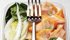 Lachs-Salat mit Fenchel, Spinat und Feta
