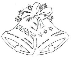 House of needlework. Handmade, design and decor Christmas Stencils, Easy Christmas Crafts, Christmas Paper, Christmas Bells, Christmas Deco, Christmas Projects, Simple Christmas, Winter Christmas, Handmade Christmas