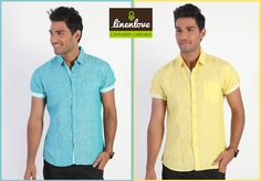 Blue or Yellow? Which is your favourite ? #shirts #onlineshopping   Shop any at : www.linenlove.in/